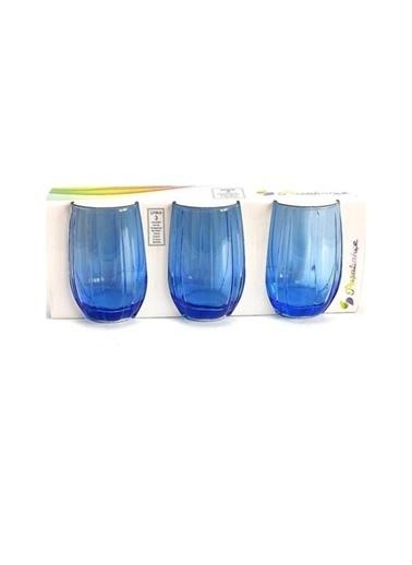 Paşabahçe PaşabahÇe 420302 3'lü Linka Su Bardağı Meşrubat Bardağı Mavi